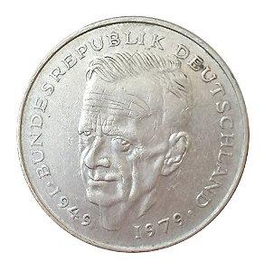 Moeda Antiga da Alemanha 2 Deutsche Mark 1982 J