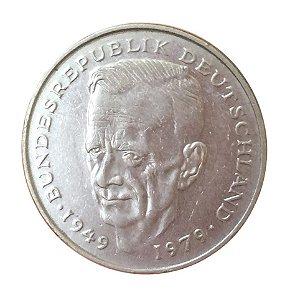 Moeda Antiga da Alemanha 2 Deutsche Mark 1987 D