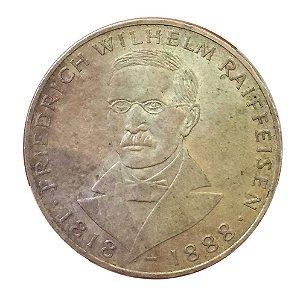 Moeda Antiga da Alemanha 5 Deutsche Mark 1968 J