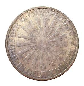 Moeda Antiga da Alemanha 10 Deutsche Mark 1972 G