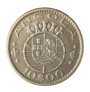Moeda Antiga da Angola 10 Escudos 1969