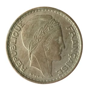 Moeda Antiga da Argélia 50 Francs 1949