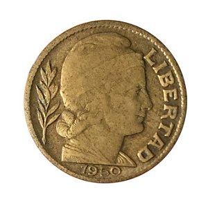 Moeda Antiga da Argentina 20 Centavos 1950