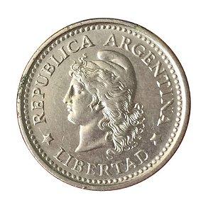 Moeda Antiga da Argentina 20 Centavos 1958