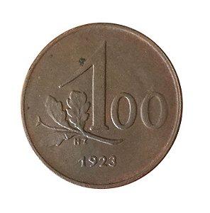 Moeda Antiga da Áustria 100 Kronen 1923