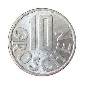 Moeda Antiga da Áustria 10 Groschen 1973