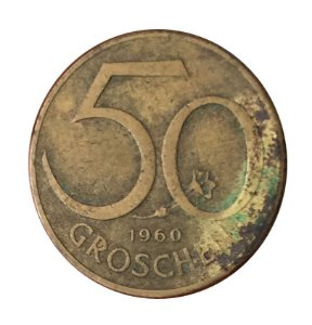 Moeda Antiga da Áustria 50 Groschen 1960