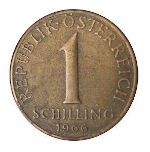Moeda Antiga da Áustria 1 Schilling 1966