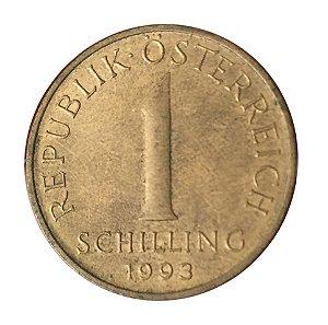 Moeda Antiga da Áustria 1 Schilling 1993