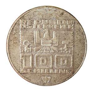 Moeda Antiga da Áustria 100 Schilling ND (1975)