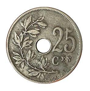 Moeda Antiga da Bélgica 25 Centimes 1927