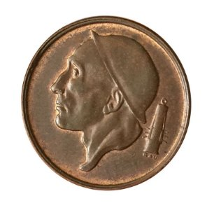 Moeda Antiga da Bélgica 50 Centimes 1958 - BELGIE