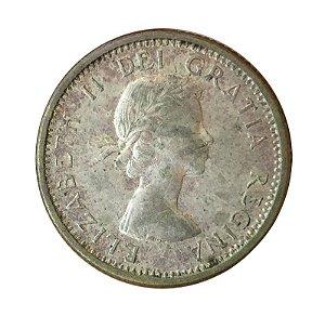 Moeda Antiga do Canadá 10 Cents 1961