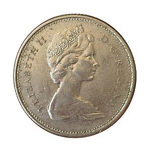 Moeda Antiga do Canadá 25 Cents 1978