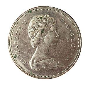 Moeda Antiga do Canadá 50 Cents 1972