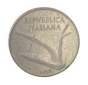 Moeda Antiga da Itália 10 Lire 1955 R