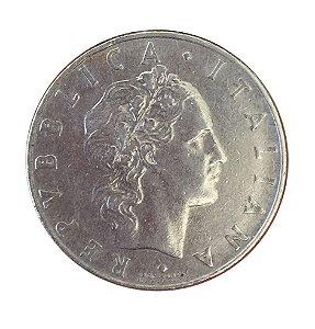 Moeda Antiga da Itália 50 Lire 1956 R