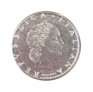 Moeda Antiga da Itália 50 Lire 1990 R