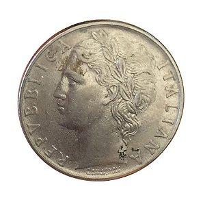 Moeda Antiga da Itália 100 Lire 1957 R
