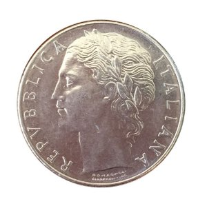 Moeda Antiga da Itália 100 Lire 1977 R