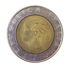 Moeda Antiga da Itália 500 Lire 1985 R
