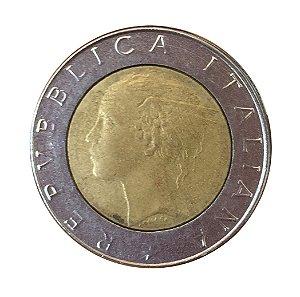 Moeda Antiga da Itália 500 Lire 1986 R