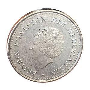 Moeda Antiga das Ilhas Holandesas Gulden 1984