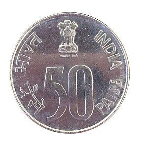 Moeda Antiga da Índia 50 Paise 1988