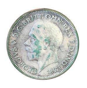 Moeda Antiga da Inglaterra Six Pence 1933