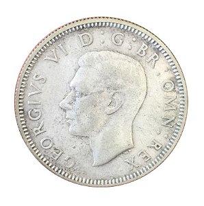 Moeda Antiga da Inglaterra One Shilling 1941