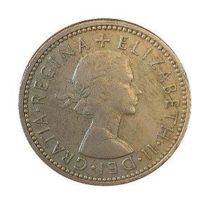 Moeda Antiga da Inglaterra One Shilling 1960