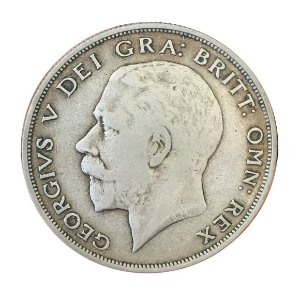 Moeda Antiga da Inglaterra Half Crown 1921