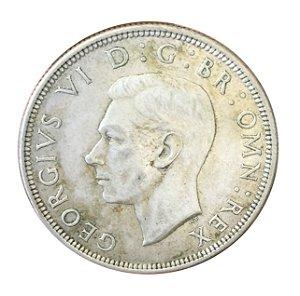 Moeda Antiga da Inglaterra Half Crown 1945