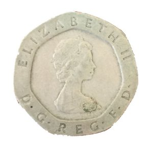 Moeda Antiga da Inglaterra 20 Pence 1982