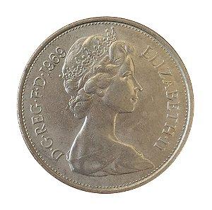 Moeda Antiga da Inglaterra 10 New Pence 1969