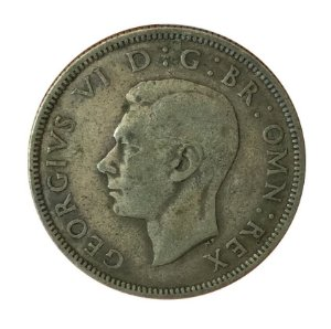 Moeda Antiga da Inglaterra Two Shillings 1938