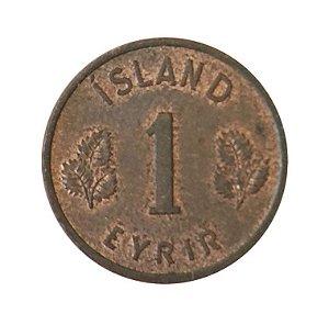 Moeda Antiga da Islândia 1 Eyrir 1958