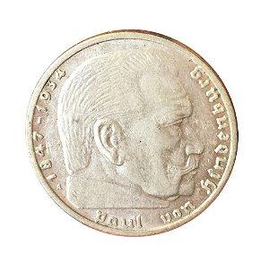 Moeda Antiga da Alemanha 2 Reichsmark 1939 A
