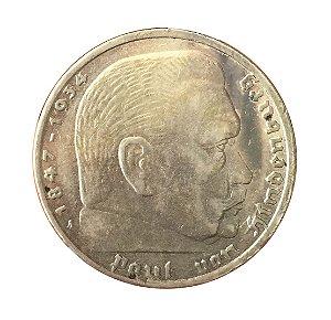 Moeda Antiga da Alemanha 5 Reichsmark 1939 A