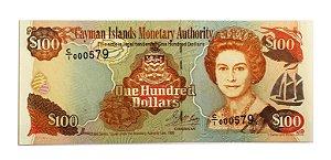 Cédula Antiga das Ilhas Cayman $100 1998