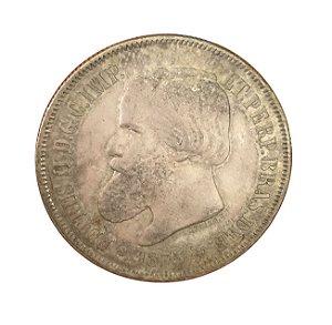 Moeda Antiga do Brasil 2000 Réis 1875 - LUSTER F. duplo