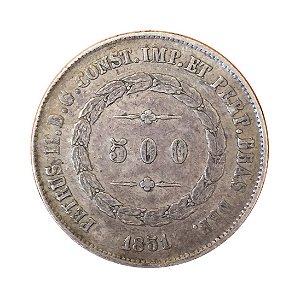 Moeda Antiga do Brasil 500 Réis 1851