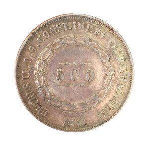 Moeda Antiga do Brasil 500 Réis 1861