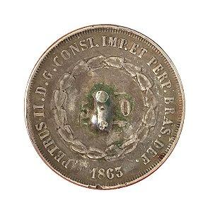 Moeda Antiga do Brasil 500 Réis 1863