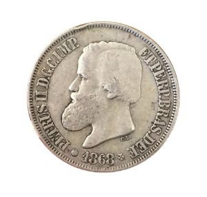 Moeda Antiga do Brasil 500 Réis 1868