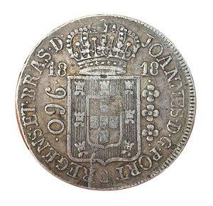 Moeda Antiga do Brasil Reino Unido 960 Réis 1818 R