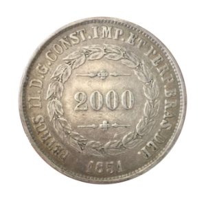 Moeda Antiga do Brasil 2000 Réis 1851