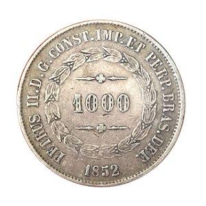 Moeda Antiga do Brasil 1000 Réis 1852