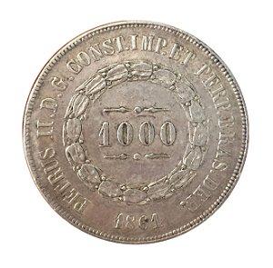 Moeda Antiga do Brasil 1000 Réis 1861