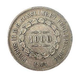 Moeda Antiga do Brasil 1000 Réis 1864